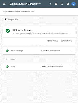 ثبت سایت در گوگل از طریق url inspection