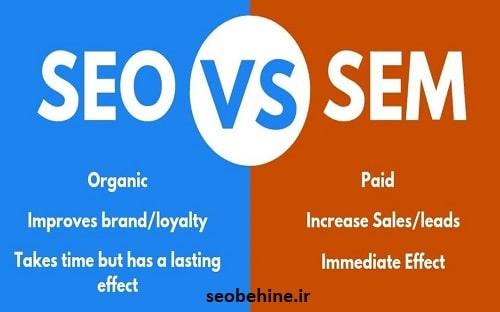 مقایسه سئو سایت با بازاریابی موتور جستجو
