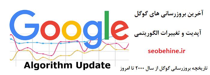 پیشینه و تاریخچه بروزرسانی و تغییرات الگوریتم های گوگل از سال 2000 تا امروز