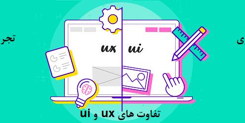 مقایسه تفاوت های ux تجربه کاربری با ui طراحی رابط کاربری